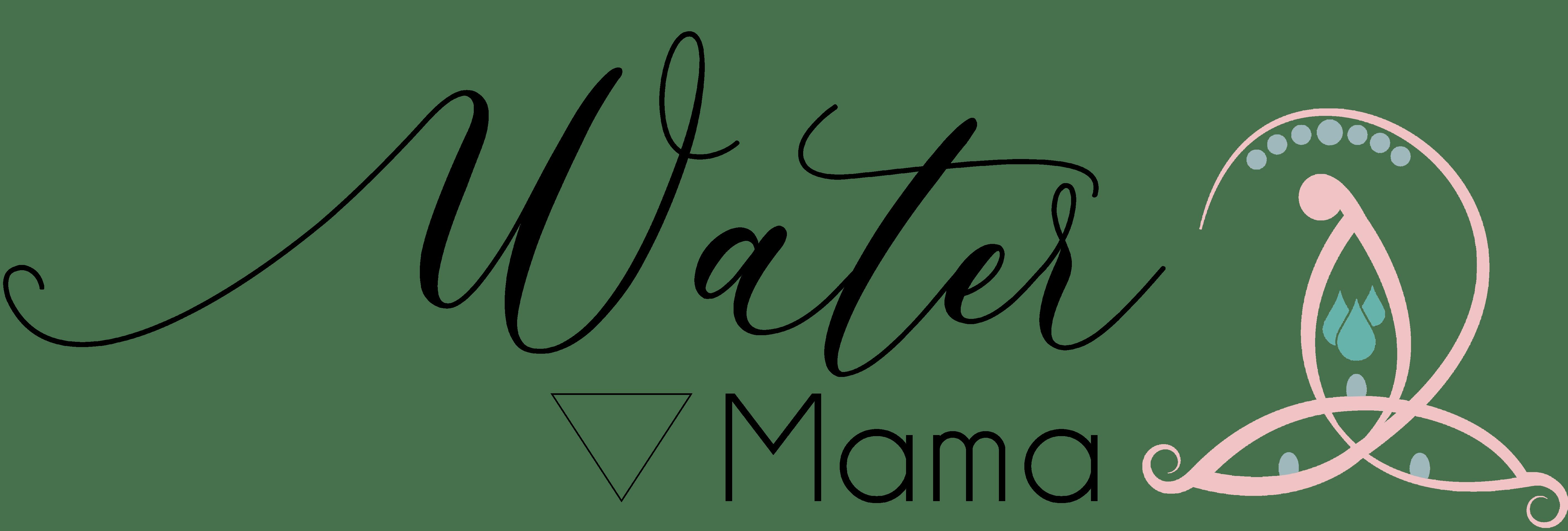 Water logo en tekst